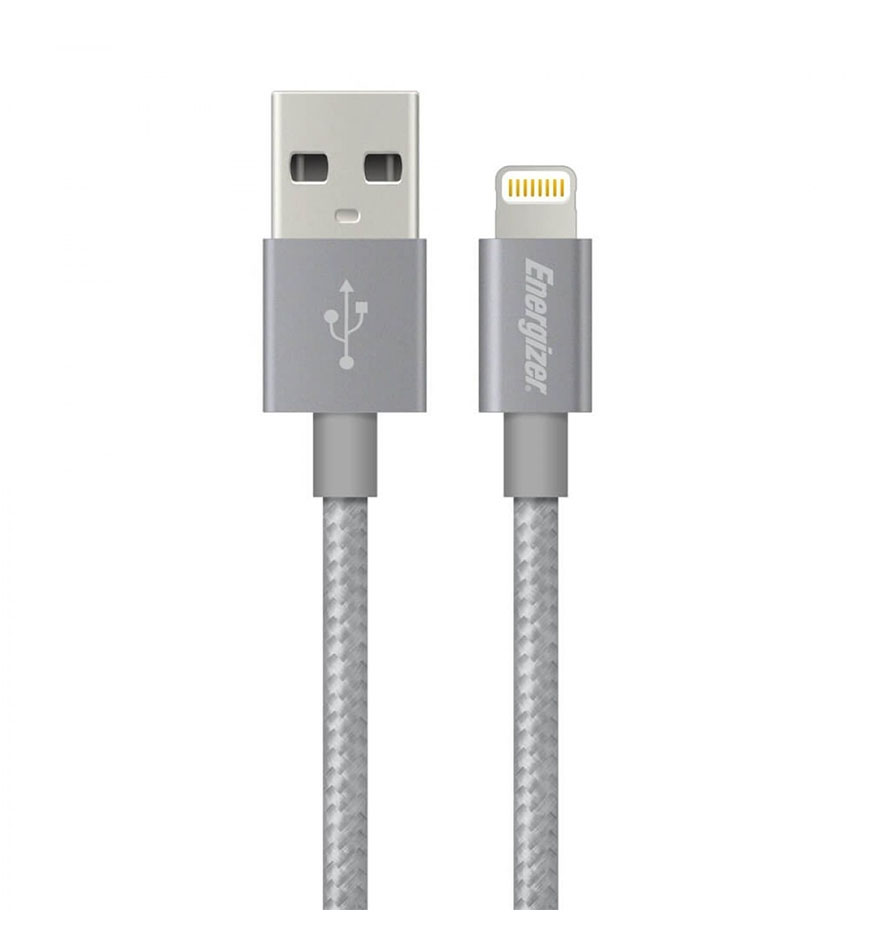ENERGIZER HIGH-TECH USB LIGHTNING IPHONE CABLE ALU - GREY 1.2M - C13UBLIGGY4