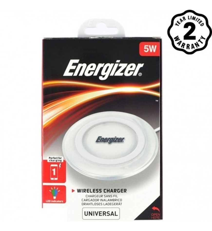 ENERGIZER WIRELESS CHARGING PAD 5W +MICRO USB CABLE - WHITE - WLACWH4