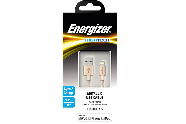 ENERGIZER HIGH-TECH USB LIGHTNING IPHONE CABLE ALU - GOLDEN 1.2M - C13UBLIGGD4