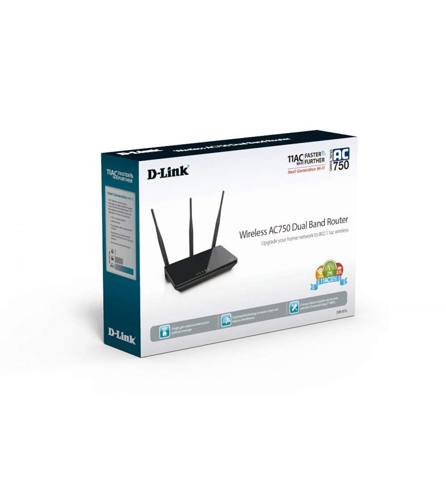D-LINK AC750 WIRELESS DUAL BAND ROUTER - DIR-816